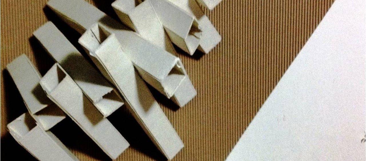 מודל תלת מימדי מקרטון ביצוע - המכינה לאדריכלות