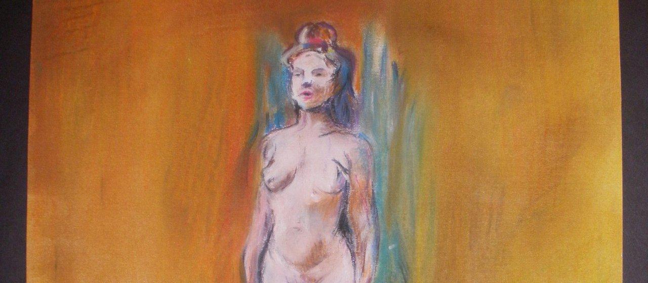 ציור בצבעי שמן - מודל עירום - המכינה לעיצוב ואדריכלות