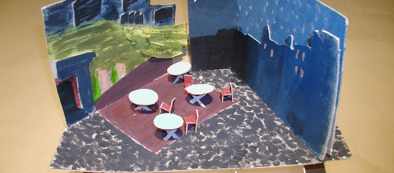 מודל מתוך התבוננות על ציור של ון גוך - המכינה לעיצוב