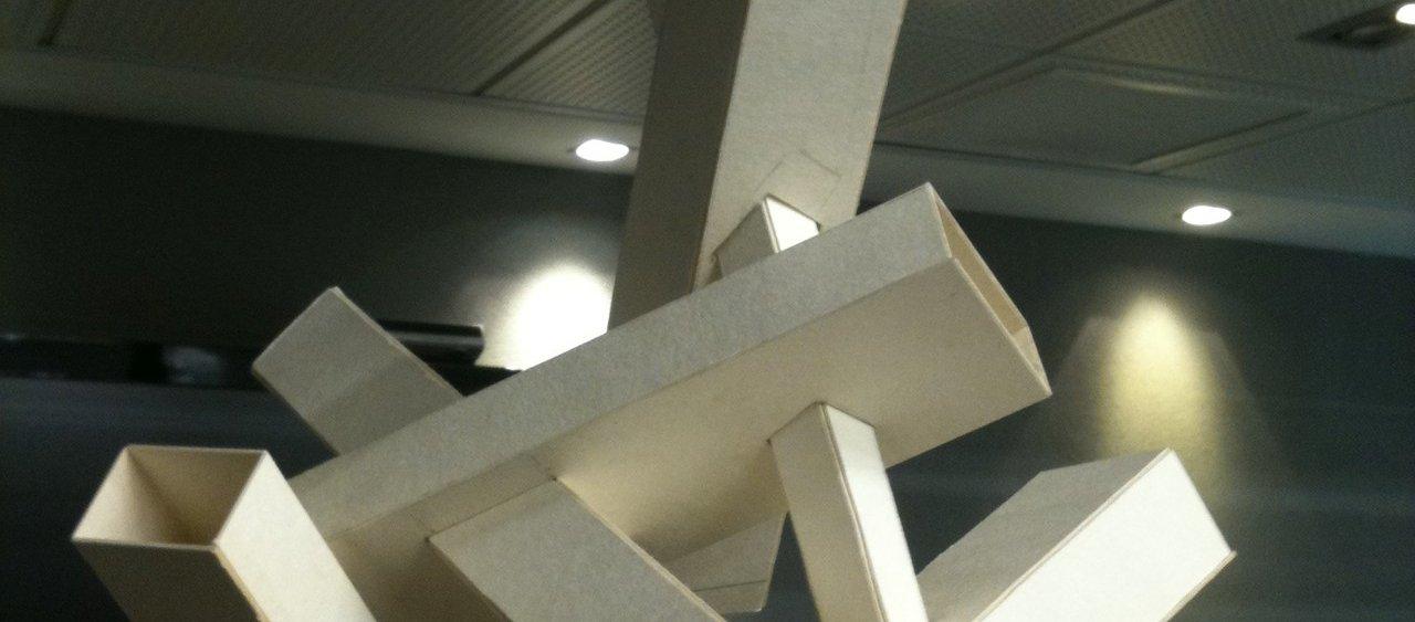 מודל מקרטון ביצוע - המכינה לאדריכלות