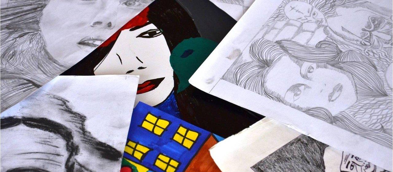רישום בטכניקות שונות - המכינה לעיצוב גרפי