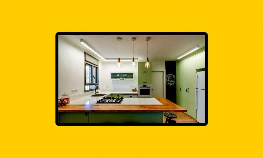 קורס עיצוב תאורה - עיצוב תאורה לאזור מטבח - צילום עינת אביגיל אסף