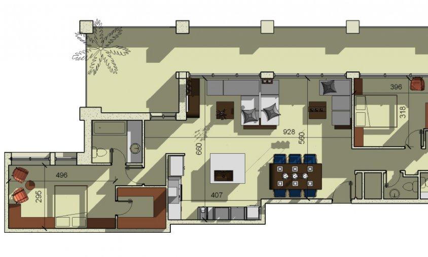 קורס Revit - תכנית דירה